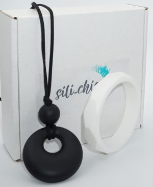Silicone Bangle & Necklace Combo