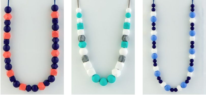 Handcrafted silicone jewellery