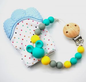 Dummy Clip & Teething Mitten